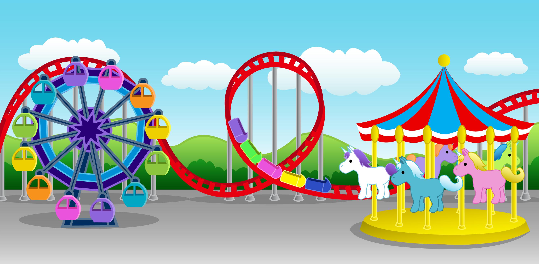 Cartoon Carnival Rides for Pinterest