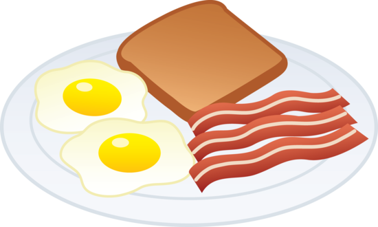 Eggs Bacon and Toast - Free Clip Art