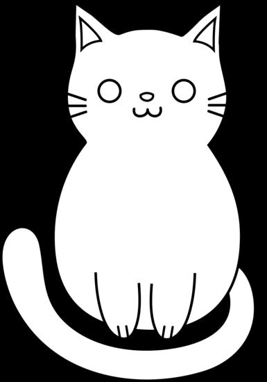 Cute Cat Line Art Free Clip Art Black Cat Drawing Cat Clip Art Kitten Drawing