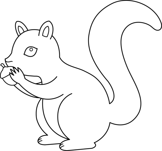 Squirrel images clipart black and white - photo#12