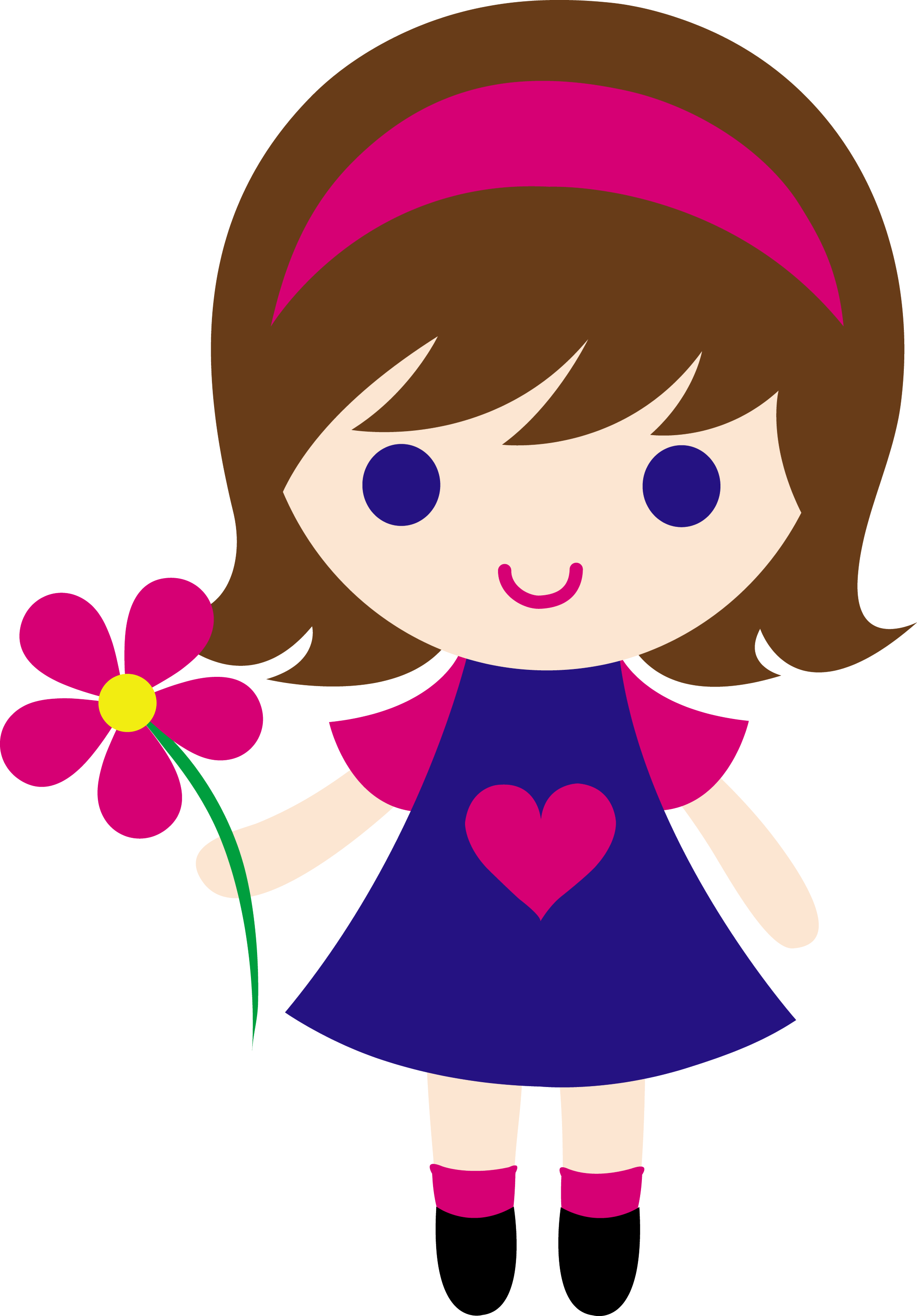 little girl clipart images - photo #1
