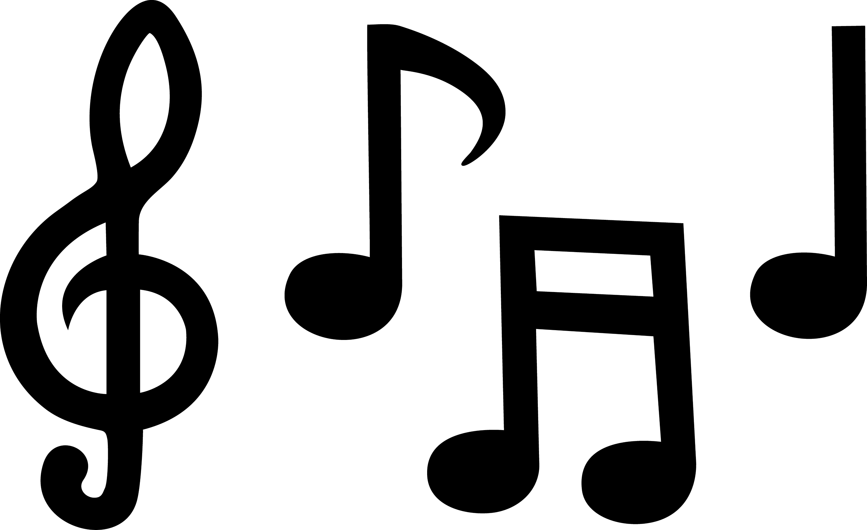 Black Musical Notes - Free Clip Art
